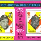 2010 Topps Update The Cards Your Mom Threw Out TCYMTO Yogi Berra & Roy Campanella #CMT140