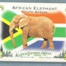 2010 Topps Allen & Ginter Baseball Mini National Animals African Elephant #NA13