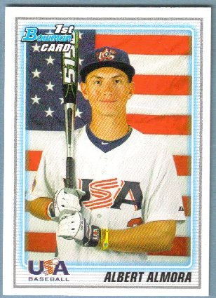 2010 Bowman Draft Picks & Prospects 1st Bowman Card USA Albert Amora (Team USA) #BDPP57