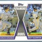 2011 Topps Baseball Diamond Duos Carlos Gonzalez (Rockies) & Troy Tulowitzki (Rockies) #DD-GT