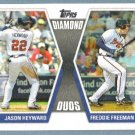 2011 Topps Baseball Diamond Duos Jason Heyward (Braves) & Freddie Freeman (Braves) #DD-HF
