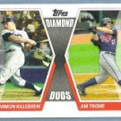 2011 Topps Baseball Diamond Duos Harmon Killebrew (Twins) & Jim Thome (Twins) #DD-KT