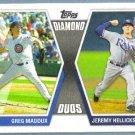 2011 Topps Baseball Diamond Duos Greg Maddux (Cubs) & Jeremy Hellickson (Rays) #DD-MH