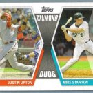 2011 Topps Baseball Diamond Duos Justin Upton (Diamondbacks) & Mike Stanton (Marlins) #DD-US
