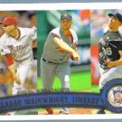 2011 Topps Baseball LL Josh Johnson / Adam Wainwright / Roy Halladay #82