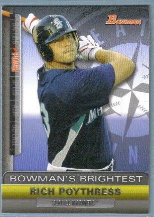 2011 Bowman Baseball Bowman's Brightest Rich Poythress (Mariners) #BBR5