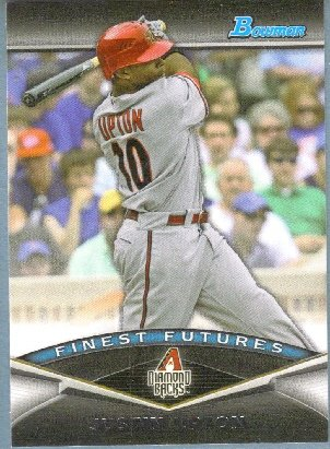 2011 Bowman Baseball Finest Futures Justin Upton (Diamondbacks) #FF19