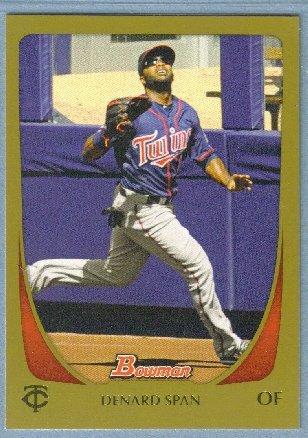 2011 Bowman Baseball GOLD Justin Morneau (Twins) #176