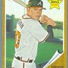 2011 Topps Heritage Baseball Rookie Freddie Freeman (Braves) #76