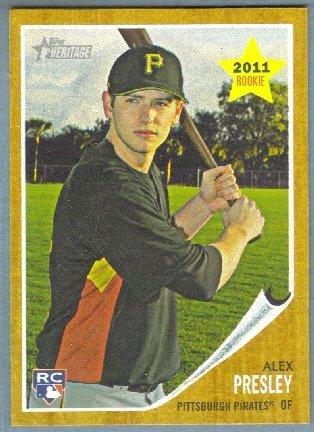 2011 Topps Heritage Baseball Rookie Alex Presley (Pirates) #86