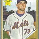 2011 Topps Heritage Baseball Rookie Dillon Gee (Mets) #181