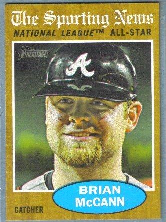 2011 Topps Heritage Baseball Sporting News NL All Star Brian McCann (Braves) #397