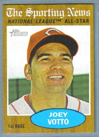 2011 Topps Heritage Baseball Sporting News NL All Star Joey Votto (Reds) #398