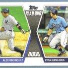 2011 Topps Baseball Diamond Duos Alex Rodriguez (Yankees) & Evan Longoria (Rays) #DD26
