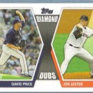 2011 Topps Baseball Diamond Duos David Price (Rays) & Jon Lester (Red Sox) #DD21
