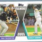 2011 Topps Baseball Diamond Duos Troy Tulowitzki (Rockies) & Hanley Ramirez (Marlins) #DD12