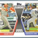 2011 Topps Baseball Diamond Duos Chase Utley (Phillies) & Robinson Cano (Yankees) #DD2