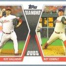 2011 Topps Baseball Diamond Duos Roy Halladay & Roy Oswalt (Phillies) #DD1