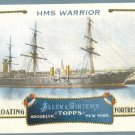 "2011 Topps Allen & Ginter Baseball ""Floating Fortresses"" HMS Warrior #FF13"
