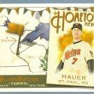 2011 Topps Allen & Ginter Baseball Hometown Heroes Joe Mauer (Twins) #HH54
