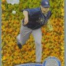 2011 Topps Update Baseball COGNAC Gold Sparkle Wade Davis (Rays) #467
