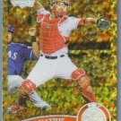 2011 Topps Update Baseball COGNAC Gold Sparkle Jeff Mathis (Angels) #474