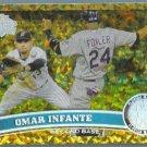 2011 Topps Update Baseball COGNAC Gold Sparkle Omar Infante (Marlins) #US149