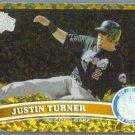 2011 Topps Update Baseball COGNAC Gold Sparkle Justin Turner (Mets) #US251