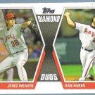 2011 Topps Update Baseball Diamond Duos Jered Weaver & Dan Haren (Angels) #DD3