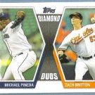 2011 Topps Update Baseball Diamond Duos Michael Pineda (Mariners) & Zach Britton (Orioles) #DD10