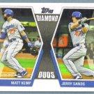 2011 Topps Update Baseball Diamond Duos Matt Kemp & Jerry Sands (Dodgers) #DD29