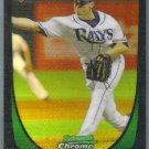 2011 Bowman Draft Picks & Prospects Chrome Refractor Rookie Brandon Gomes (Rays) #41