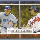 2012 Topps Baseball Timeless Talents Ryne Sanberg (Cubs) & Dan Uggla (Braves) #TT-10