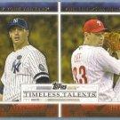 2012 Topps Baseball Timeless Talents Andy Pettitte (Yankees) & Cliff Lee (Phillies) #TT-12
