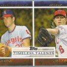 2012 Topps Baseball Timeless Talents Nolan Ryan & Jered Weaver (Angels) #TT-14