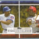 2012 Topps Baseball Timeless Talents Andre Dawson (Cubs) & Justin Upton (Diamondbacks) #TT-16