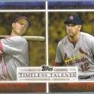 2012 Topps Baseball Timeless Talents Stan Musial & Lance Berkman (Cardinals) #TT-19
