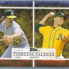 2012 Topps Baseball Timeless Talents Dennis Eckersley & Andrew Bailey (Athletics) #TT-21