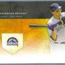 2012 Topps Baseball Golden Moments Troy Tulowitzki (Rockies) #GM-33