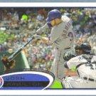 2012 Topps Baseball Michael Young (Rangers) #55