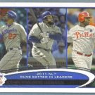 2012 Topps Baseball League Leaders Matt Kemp / Prince Fielder / Albert Pujols #77