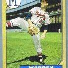 2012 Topps Baseball Mini Retro 1987 Warren Spahn (Braves) #TM-93