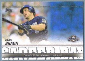 2012 Topps Baseball Career Day Ryan Braun (Brewers) #CD-10
