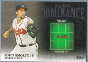 2012 Topps Baseball Mound Dominance John Smoltz (Braves) #MD-14