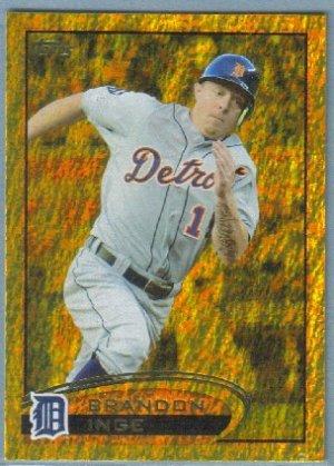 2012 Topps Baseball Gold Sparkle Brandon Inge (Tigers) #377