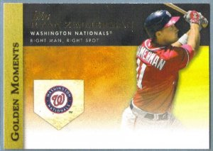 2012 Topps Baseball Golden Moments Ryan Zimmerman (Nationals) #GM-10
