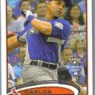 2012 Topps Update & Highlights Baseball All Star HRD Carlos Gonzalez (Rockies) #US6
