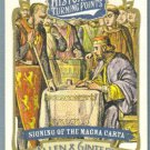 2012 Topps Allen & Ginter Historical Turning Points Signing of the Magna Carta #HTP11