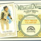 2012 Topps Allen & Ginter What's In A Name Troy Tulowitzki (Rockies) #WIN5