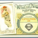 2012 Topps Allen & Ginter What's In A Name Cliff Lee (Phillies) #WIN8